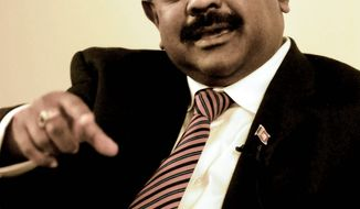 Sri Lanka ambassador to the U.S. Jaliya Wickramasuriya. (J.M. Eddins Jr. / The Washington Times)