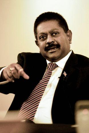 Sri Lanka ambassador to the U.S. Jaliya Wickramasuriya. (J.M. Eddins Jr. / The Washington Times)
