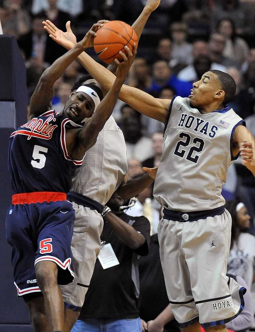 Georgetown freshman Otto Porter (right) is averaging 8.3 points. 5.9 rebounds and 1.9 assists for the 12th-ranked Hoyas. (Associated Press)
