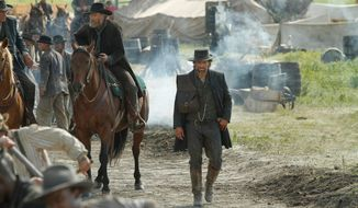 "AMC's ""Hell on Wheels,"" a Western starring Anson Mount and Common, has been renewed for another season. (Courtesy AMC)"