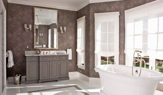 Courtesy of Gwin Hunt Photography The soaking tub provides a focal point for the master bath.