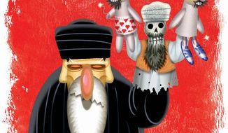Illustration: Iran by Alexander Hunter for The Washington Times
