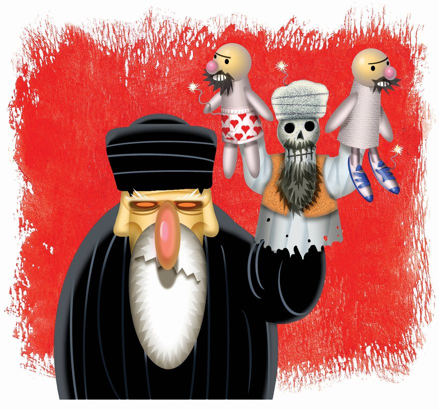 Illustration: Iran by Alexander Hunter for The Washington Times