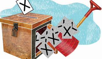 Illustration: Ballot box by The Washington Times