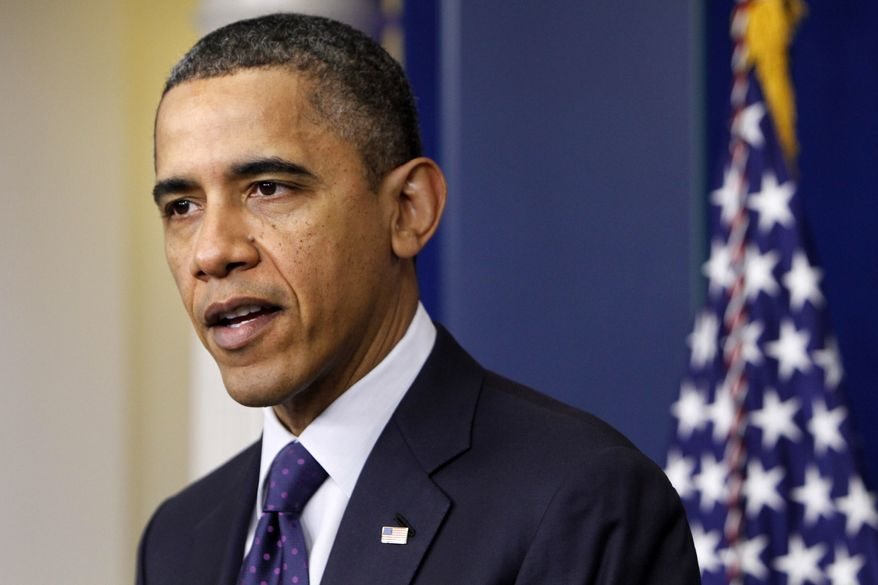 **FILE** President Obama speaks Dec. 23, 2011, at the White House. (Associated Press)