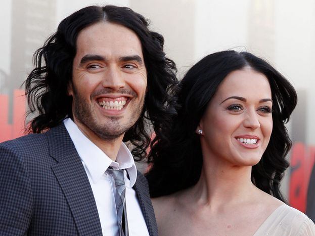 """""""I'll always adore her and I know we'll remain friends,"""" said Russell Brand, announcing that he is divorcing his wife of 14 months, Katy Perry. (Associated Press)"""