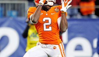 Sammy Watkins, a first-team All-American, set a school record with 1,153 receiving yards in helping Clemson earn its first major bowl berth in 30 years. (Associated Press)