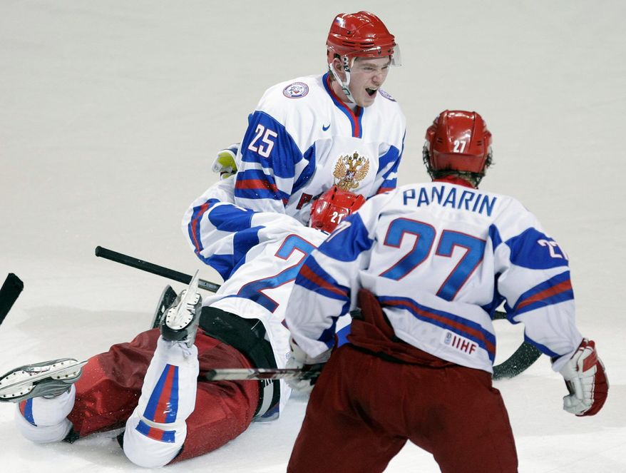 Evgeny Kuznetsov (25) was clutch for Russia in the 2011 world junior championships, scoring the game-winning goal against Finland in the quarterfinals. (Associated Press)