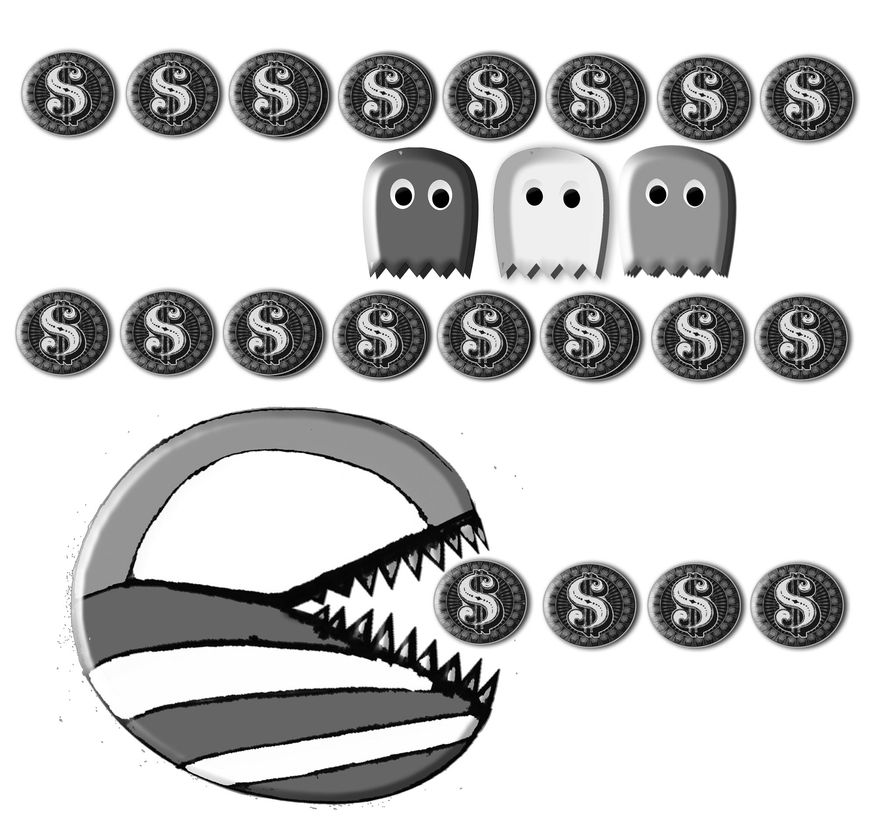 Illustration: Obama spending by John Camejo for The Washington Times