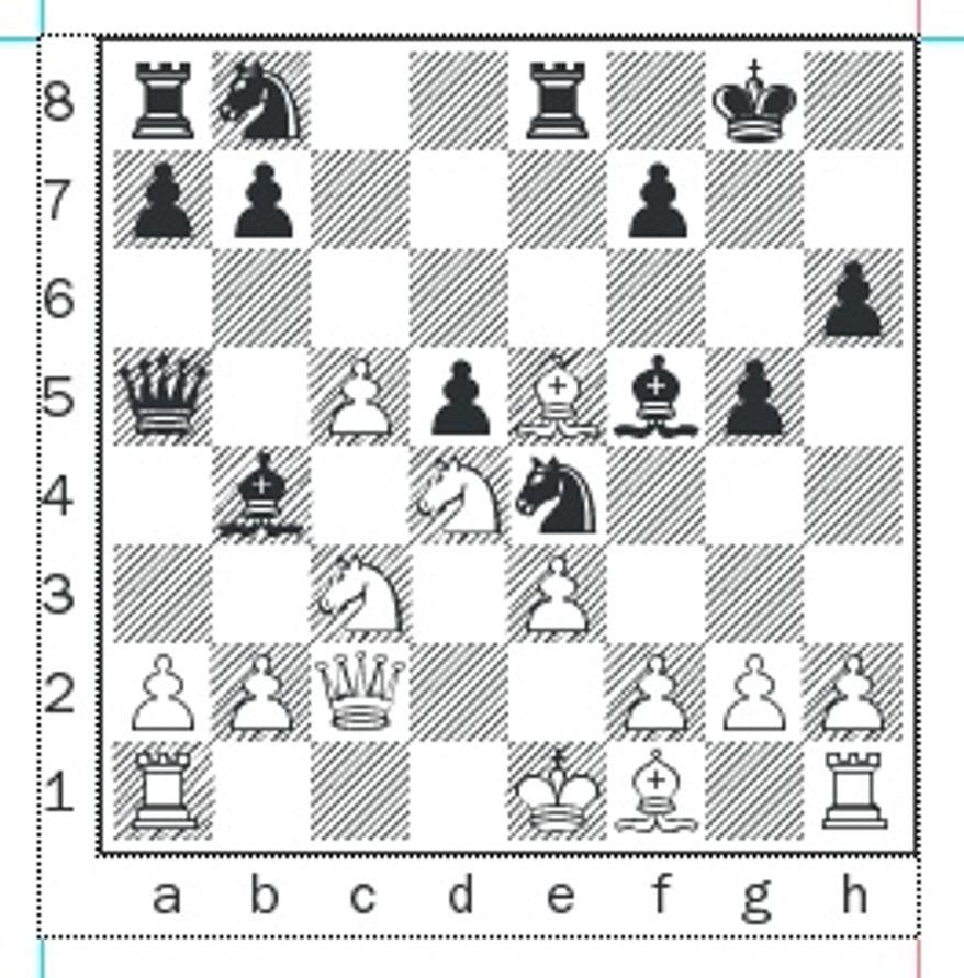 Kaidanov-Ivanov after 13...Re8.
