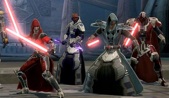 Sith prepare to attack in the PC video game Star Wars: The Old Republic.
