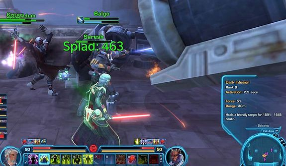 Action can get complicated in the PC video game Star Wars: The Old Republic.