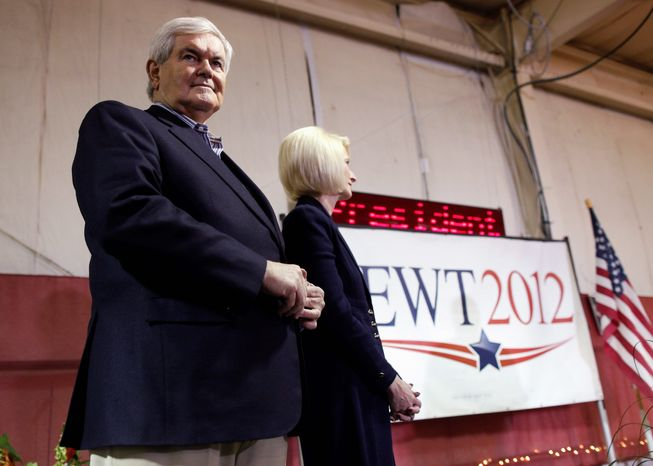 """Newt Gingrich's girth surely could be a target in the race to be the Republican presidential nominee. Will it cost him? """"Study after study after study shows the same thing. Weight bias is a highly prevalent form of discrimination, more common than other forms that have protection within our laws,"""" says Yale University's Rebecca Puhl (Associated Press)"""