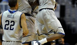 Georgetown, predicted to finish 10th in the Big East, has had plenty of reason to celebrate after starting 3-0 in the conference. (Associated Press)