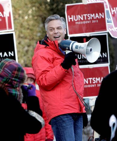 Republican Jon Huntsman Jr. is getting backing from the Boston Globe and other New England newspapers as he tries to surge in the presidential primary race.