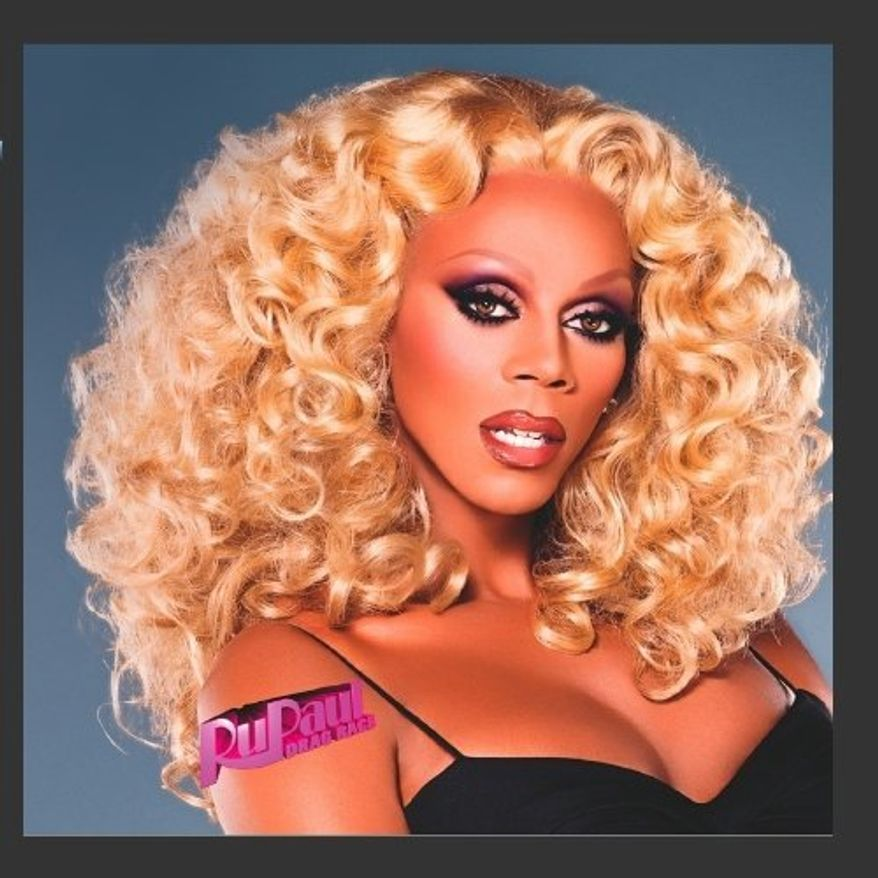 """Drag queen and TV host RuPaul has raced off to New Hampshire to make sure everyone knows he is not Rep. Ron Paul, and that he does not intend to """"toss his wig"""" in the campaign ring. (image from RuPaul Andre Charles.)"""