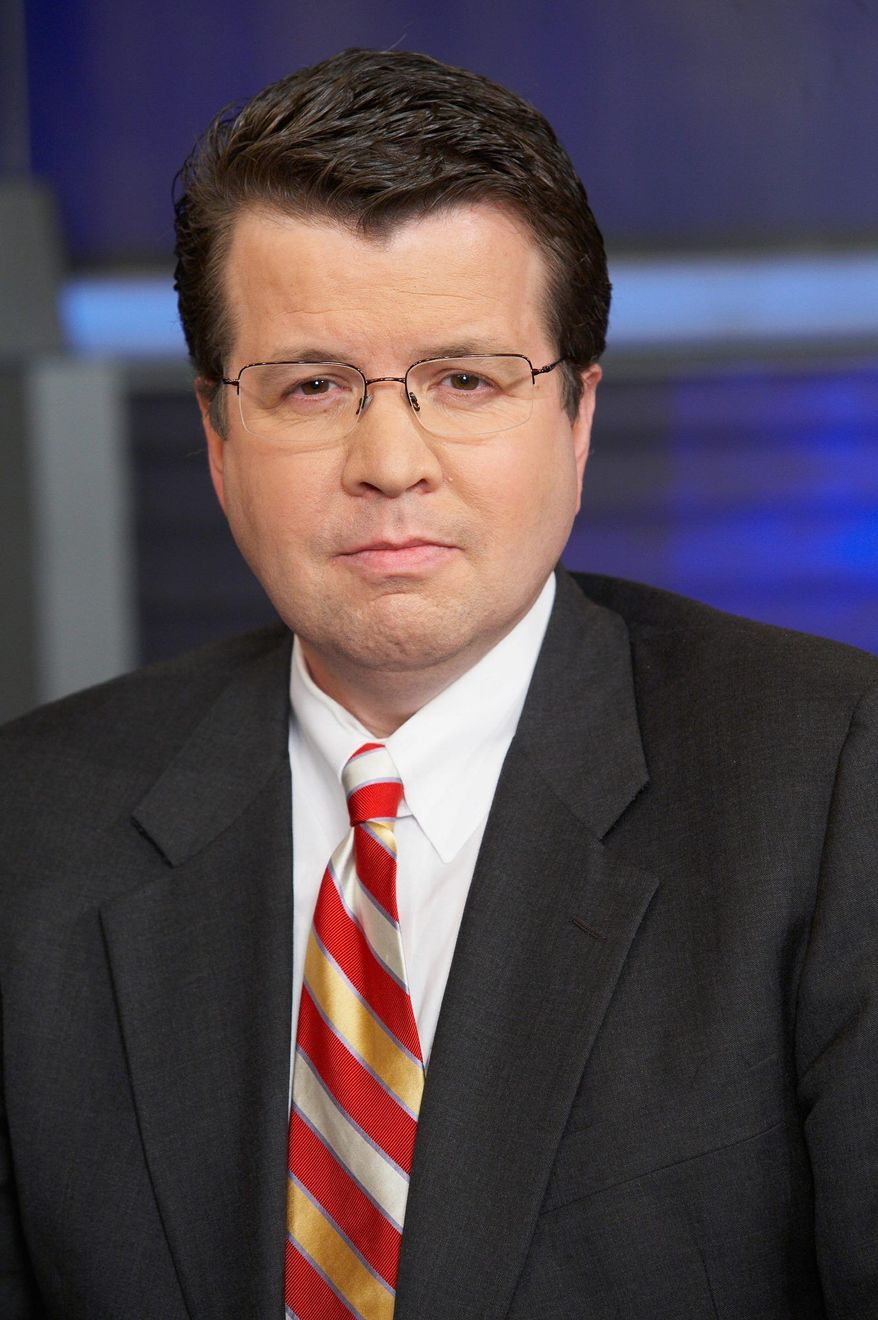 Fox Business Network anchor Neil Cavuto hosts Sarah Palin and Herman Cain on Tuesday night, and says the economy-driven Republican primaries have a global audience. (image from Fox Business Network)