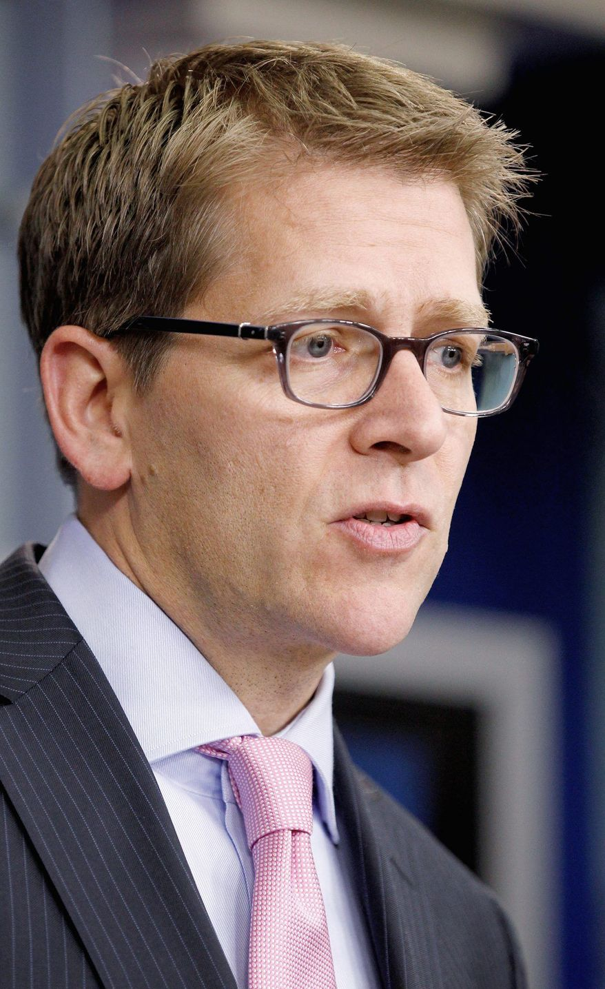 """The commitment that the president has to closing Guantanamo Bay is as firm today as it was during the campaign ... I think this is a process that faces obstacles that we're all aware of and we will continue to work through them."" - Jay Carney, White House press secretary. (AP Photo/Haraz N. Ghanbari)"