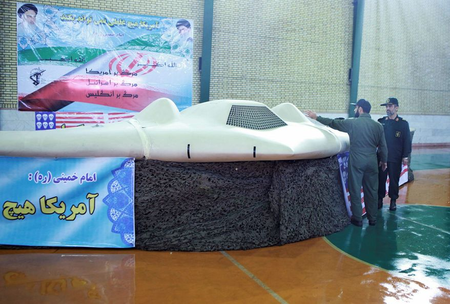 This photo released on Dec. 8 by the Iranian Revolutionary Guards claims to show a U.S. RQ-170 Sentinel drone that ended up in Iranian hands. (Associated Press)