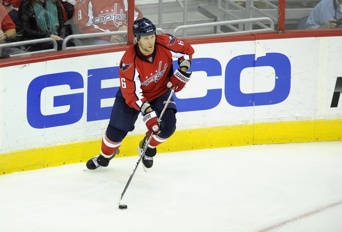 Washington Capitals defenseman Dennis Wideman was selected for the NHL All-Star Game, which takes place Jan. 29. (AP Photo/Nick Wass)