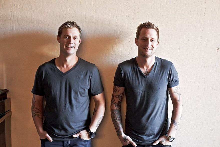 """Bryan (left) and chef Michael Voltaggio have a shared passion - cooking - that has transformed decades of sibling rivalry into a fruitful cooperation. They were featured on Season 6 of Bravo's """"Top Chef"""" program. (Associated Press)"""