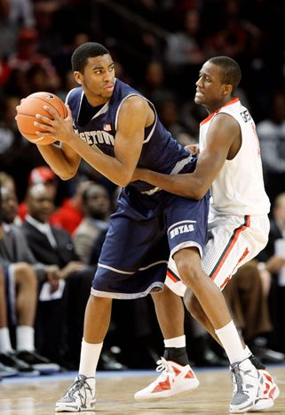 Georgetown's Hollis Thompson shook off the rust after halftime and the Hoyas pulled away for a 20-point Big East win Sunday against St. John's. (Associated Press)