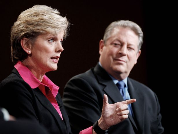 """Politicians-turned-pundits Jennifer Granholm and Al Gore are paired on """"The War Room with Jennifer Granholm"""" on Current TV. Mr. Gore, chairman of the network, said he has no desire for a regular on-camera job. He provided commentary for Current's coverage of the Iowa and New Hampshire contests. (Associated Press)"""