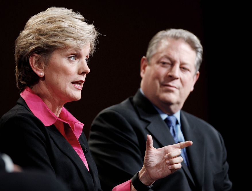 "Politicians-turned-pundits Jennifer Granholm and Al Gore are paired on ""The War Room with Jennifer Granholm"" on Current TV. Mr. Gore, chairman of the network, said he has no desire for a regular on-camera job. He provided commentary for Current's coverage of the Iowa and New Hampshire contests. (Associated Press)"