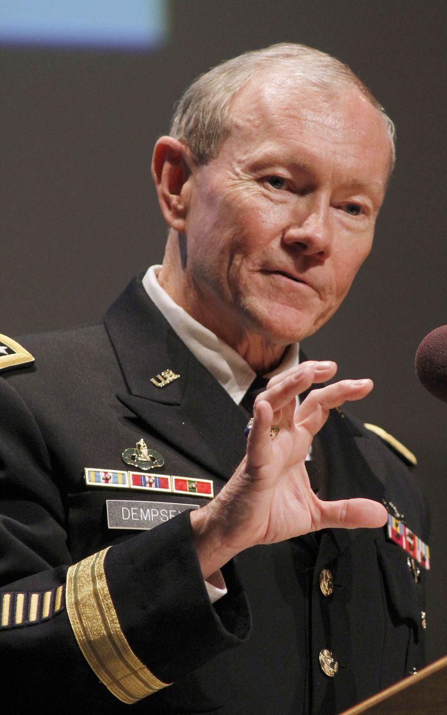 U.S. Army Gen. Martin E. Dempsey is chairman of the Joint Chiefs of Staff. (AP Photo/Jim R. Bounds)