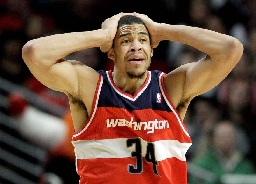 Center JaVale McGee is one Wizard whose decision-making has been called into question during Washington's 1-12 start to the season. (Associated Press)