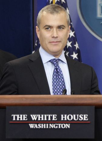 **FILE** Jeff Zients, deputy director for the Office of Management and Budget, briefs reporters March 2, 2011, at the White House. (Associated Press)