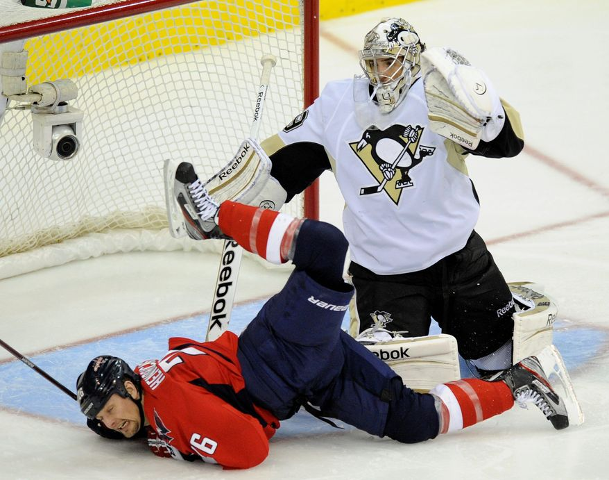 Left wing Matt Hendricks and the Capitals largely have avoided crash landings at home, but it's a different story when Washington plays away from Verizon Center. (Associated Press)