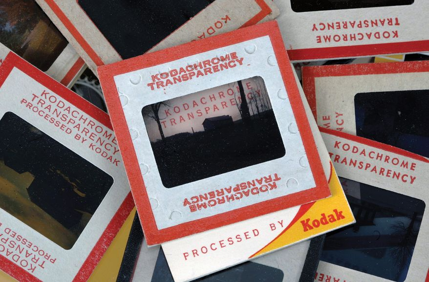 Kodachrome slides are an apt metaphor for one-time photography giant Eastman Kodak Co. The 132-year-old Rochester, N.Y.-based Kodak, which has seen its stock price slide over the past 15 years from $94 a share in 1997 to 37 cents earlier this month, filed for Chapter 11 bankruptcy protection on Thursday. (Associated Press)