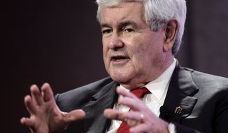 Former House Speaker Newt Gingrich, campaigning for the Republican presidential nomination, speaks at the Personhood USA forum in Greenville, S.C., on Wednesday, Jan. 18, 2012. (AP Photo/Paul Sancya)