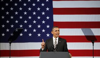 President Barack Obama speaks at a campaign event, Thursday, Jan. 19, 2012, at the Apollo Theatre in the Harlem neighborhood of New York. (AP Photo/Haraz N. Ghanbari)