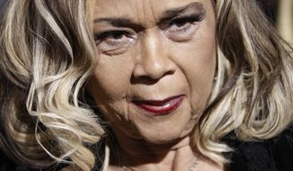 "**FILE** Etta James arrives Nov. 24, 2008, at the premiere of ""Cadillac Records"" in Los Angeles. James, the feisty rhythm and blues singer whose raw, passionate vocals anchored many hits, died Jan. 20, 2012. She was 73. (Associated Press)"
