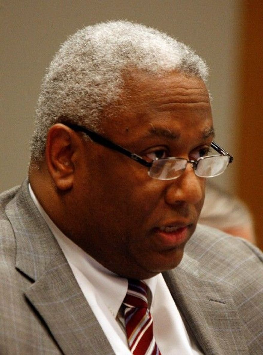 """""""We still have miles to go before we sleep on this issue,"""" Virginia state Sen. A. Donald McEachin, Henrico Democrat, said of the congressional redistricting. (Associated Press)"""