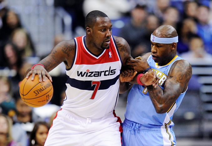 Forward Andray Blatche, who is averaging 9.0 points and 6.2 rebounds per game with the Washington Wizards, has drawn the wrath of fans at Verizon Center. (Associated Press)