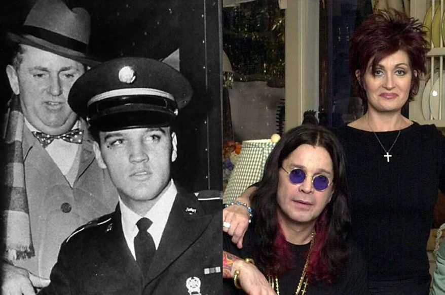 Col. Tom Parker (upper left) and Sharon Osbourne are just two notable managers. (Photos: Associated Press)