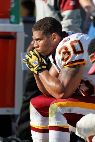 Washington Redskins safety Laron Landry missed most of the 2011 season with an Achilles tendon injury. (AP Photo)