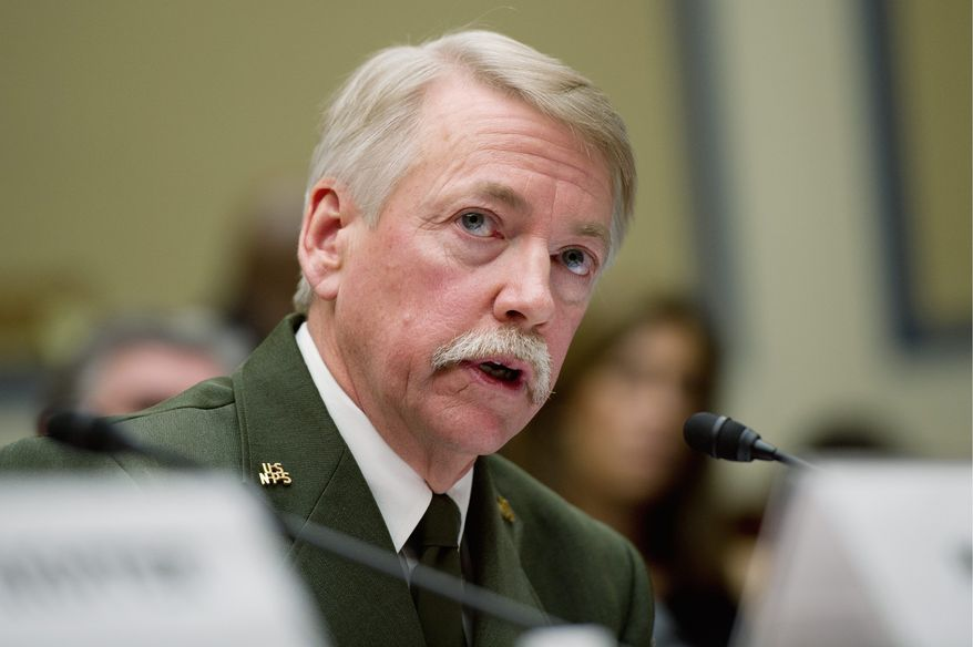 Jonathan Jarvis, director of the National Park Service, testified the Park Service will soon begin a crackdown on Occupy D.C. campers. (Andrew Harnik/The Washington Times)