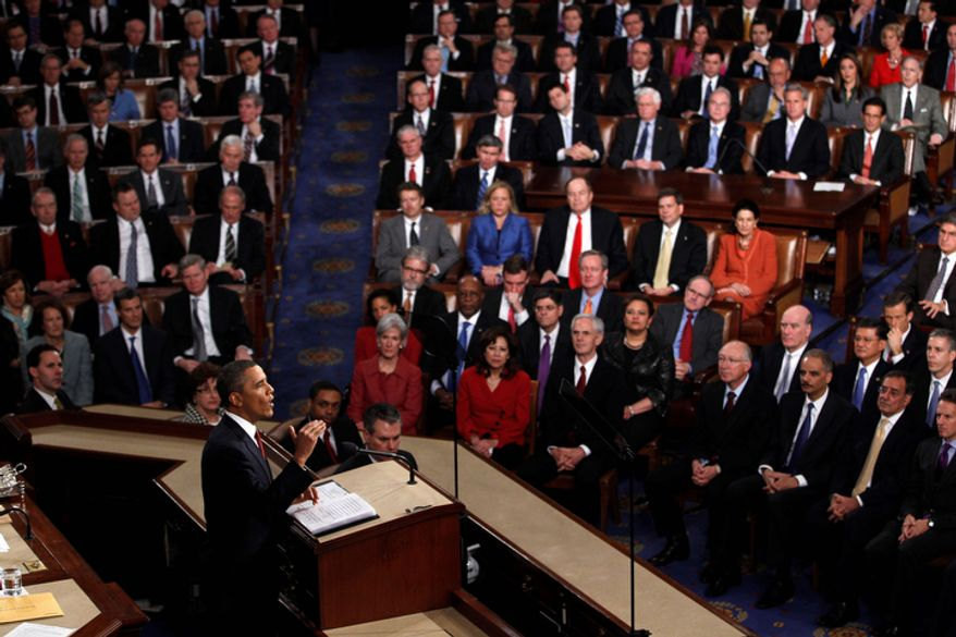 President Barack Obama delivers his State of the Union address. (AP Photo/Evan Vucci)