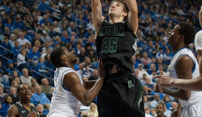 Loyola junior guard Robert Olson during a game against the University of Kentucky at Rupp Arena, Lexington, KY. Dec 12th, 2011 (Loyola University)