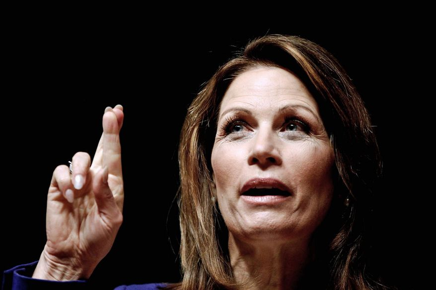 "Rep. Michele Bachmann, Minnesota Republican, will seek a fourth term. ""I'm looking forward to coming back and bringing a strong, powerful voice to Washington, D.C.,"" she said Wednesday, less than a month after ending her presidential bid. (Associated Press)"