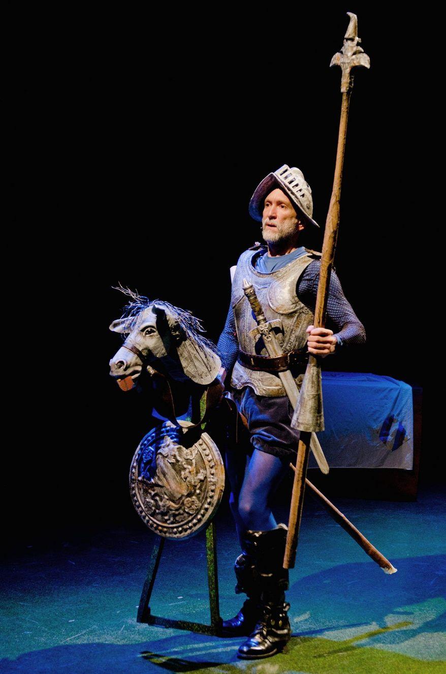 """""""Las Aventuras de Don Quijote de La Mancha,"""" a bilingual presentation of the classic """"Don Quixote,"""" will open Feb. 25 at the Gala Hispanic Theatre. (Gala Hispanic Theatre)"""