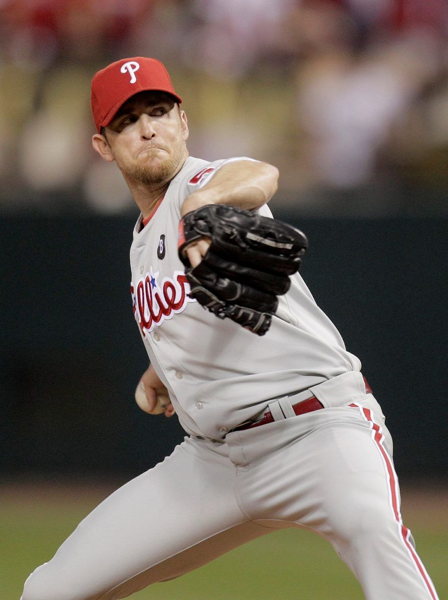 Brad Lidge's best season came in 2008 with Philadelphia when he recorded 41 saves with 1.95 ERA. (Associated Press)