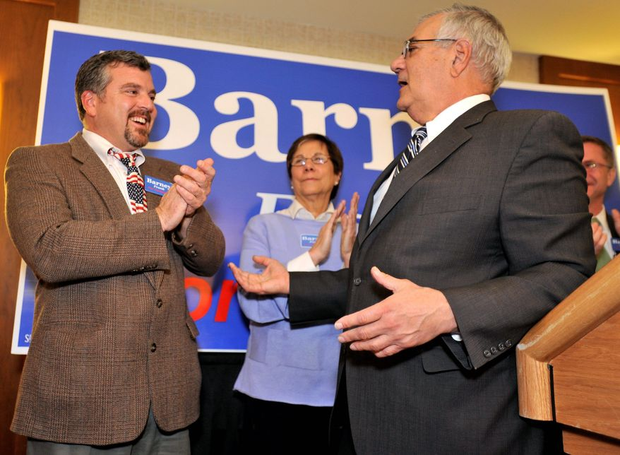 Rep. Barney Frank (right), Massachusetts Democrat, plans to marry his longtime partner, Jim Ready (left), who is from Maine. No date has been set. (Associated Press)