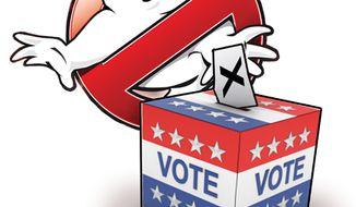 Illustration: Vote busters by John Camejo for The Washington Times