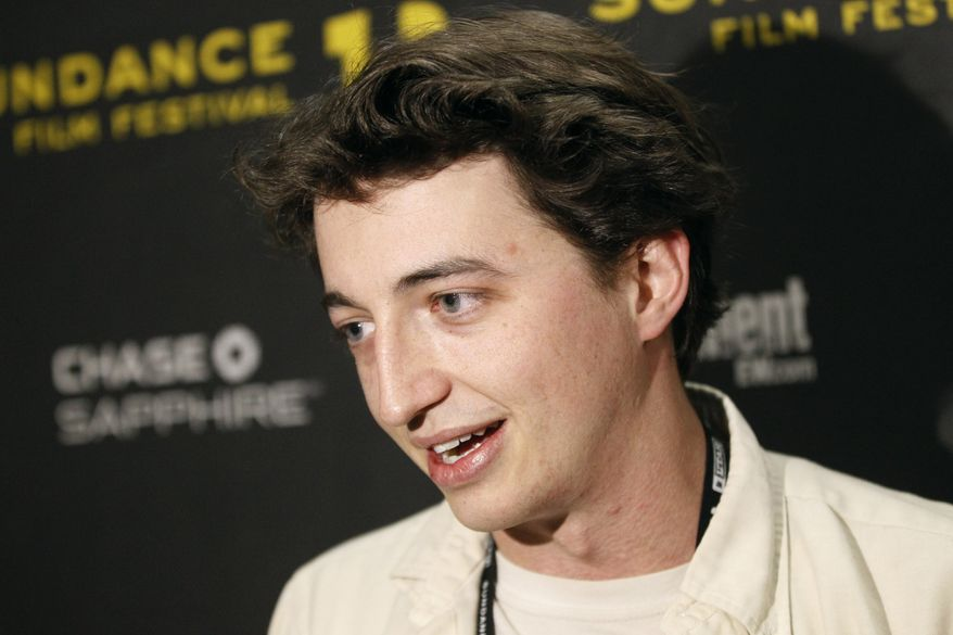 """Film director Benh Zeitlin talks about his movie """"Beasts of the Southern Wild"""" after it won the grand jury prize in the U.S. dramatic competition at the Sundance Film Festival in Park City, Utah, on Saturday, Jan. 28, 2012. (AP Photo/Danny Moloshok)"""