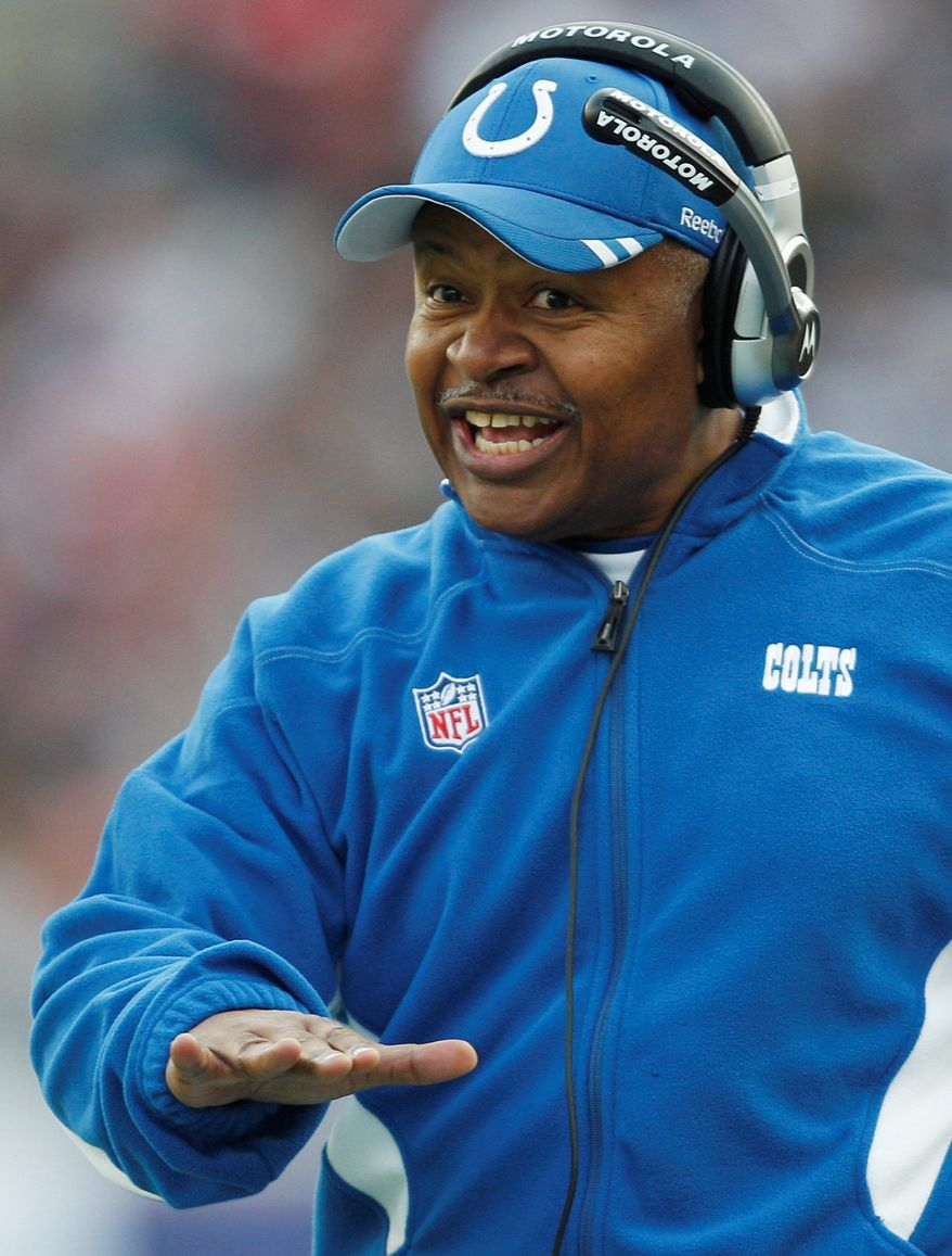 **FILE** Former Colts coach and current Ravens offensive coordinator Jim Caldwell didn't get a single interview for a head coaching position this offseason despite his impressive resume.